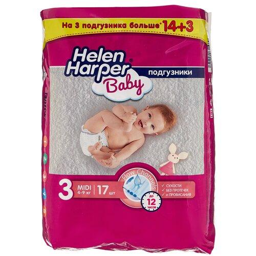 Фото - Helen Harper подгузники Baby 3 (4-9 кг), 14 шт. skippy подгузники econom 3 4 9 кг 56 шт