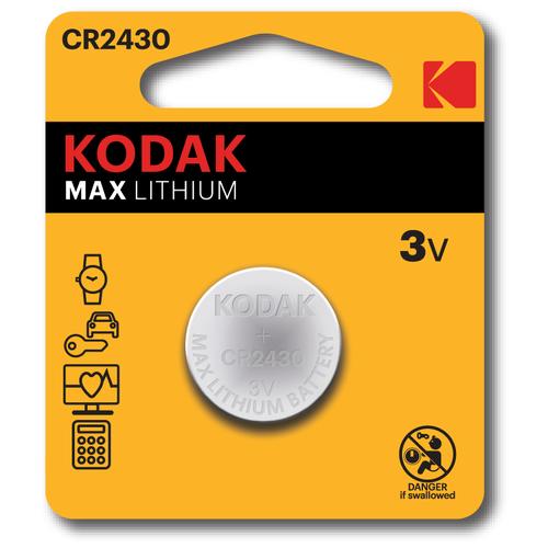 Фото - Батарейка Kodak Max Lithium CR2430, 1 шт. батарейка gp lithium cr2430 1 шт