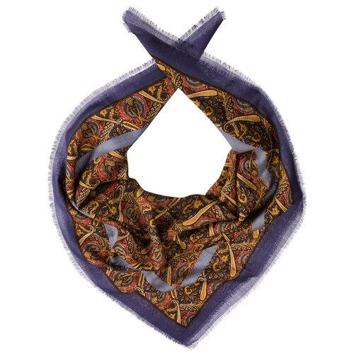 Шарф Dr.Koffer S810455-135 100% шерсть синий/коричневый