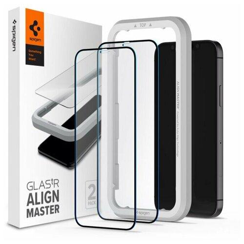 Защитное стекло Spigen Glas.tR AlignMaster 2 Pack (AGL01792) для iPhone 12 Pro Max (Black)