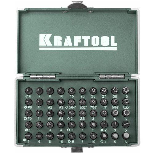 Набор бит Kraftool 26065-H50, 50 предм., зеленый