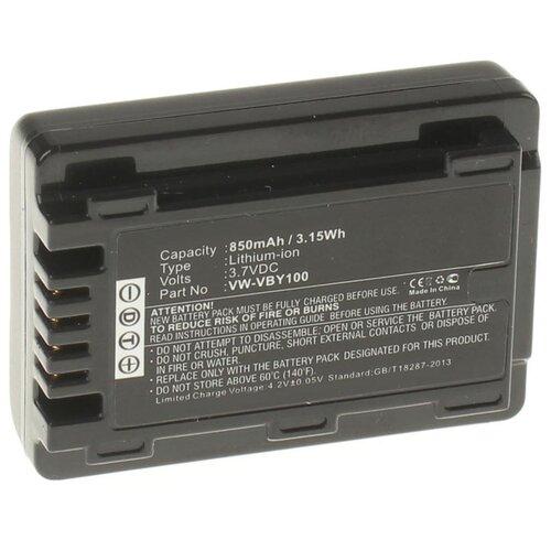 Фото - Аккумулятор iBatt iB-U1-F238 850mAh для Panasonic HC-V160, HC-V110, HC-V130, HC-V110EE-K, HC-V201, HC-V201K, видеокамера panasonic hc mdh3e