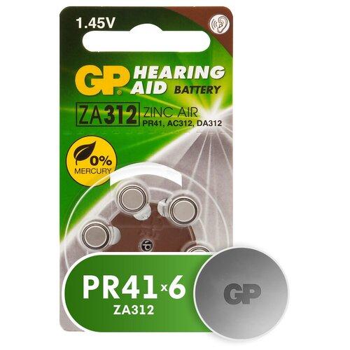 Фото - Батарейка GP Hearing Aid ZA312, 6 шт. батарейки perfeo za312 6bl airozinc premium 6 штук