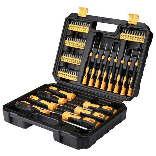 Фото - Набор инструментов DEKO DKMT65, 65 предм., черный/желтый набор инструментов deko tz82 82 предм черный желтый