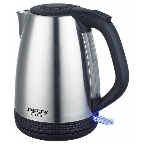 Чайник DELTA LUX DL-1285, черный чайник delta lux dl 1204b 1 7l black