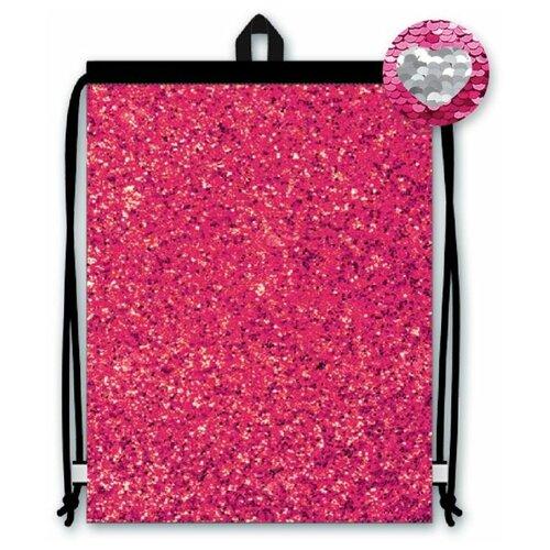 Рюкзак-мешок, розовый/серебряный, 36x48 см
