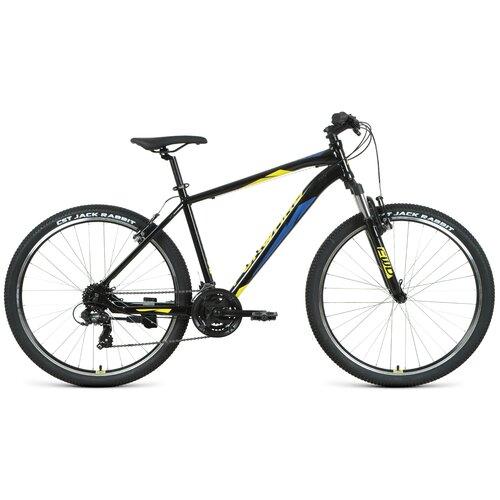 Горный (MTB) велосипед FORWARD APACHE 27,5 1.2 S (2021) черный/желтый 19 (требует финальной сборки) горный mtb велосипед forward apache 27 5 1 2 s 2021 желтый зеленый 19 требует финальной сборки