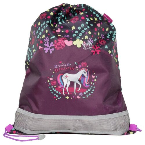 MagTaller Мешок для обуви Lovely Unicorn (31916-11) фиолетовый/черный недорого