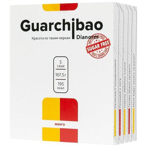 Фото - Guarchibao Фитококтейль без сахара Dianorm Манго, 5 шт. в упаковке, 107.5 г батончики глазированные guarchibao pro snack со вкусом ананаса 5 шт