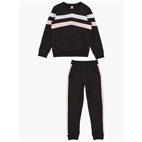 Спортивный костюм Mini Maxi размер 128, черный