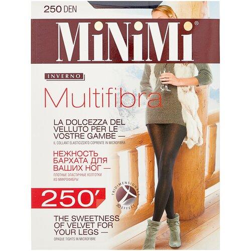 Фото - Колготки MiNiMi Multifibra, 250 den, размер 4-L, fumo (серый) колготки minimi vittoria 20 den размер 4 l fumo серый