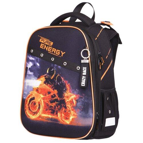Купить Berlingo ранец Expert Energy, черный/оранжевый, Рюкзаки, ранцы