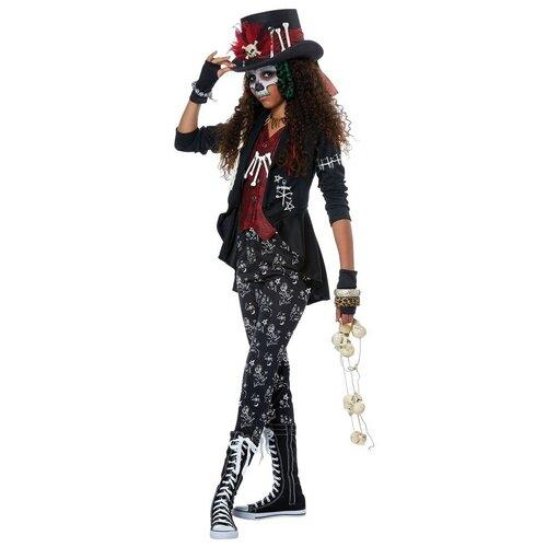 Купить Костюм Милая шаманка вуду детский California Costumes XL (12-14 лет) (шляпа с отделкой, жакет, перчатки, ожерелье, лосины), Карнавальные костюмы