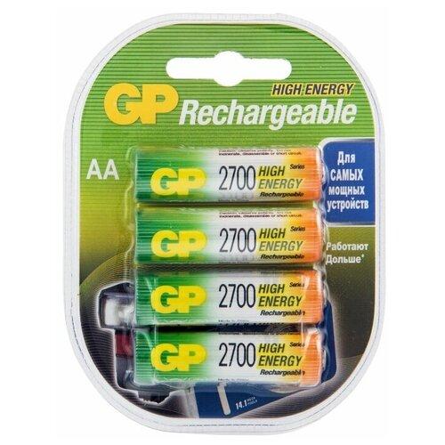 Фото - Аккумулятор Ni-Mh 2700 мА·ч GP Rechargeable 2700 Series AA, 4 шт. аккумулятор ni mh 950 ма·ч gp rechargeable 1000 series aaa 6 шт