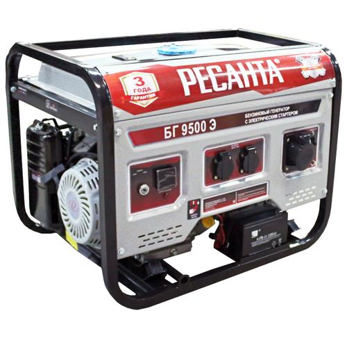 Бензиновый генератор РЕСАНТА БГ 9500 Э (7500 Вт)