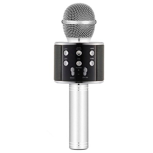 Беспроводной караоке-микрофон WS-858 (темное серебро)