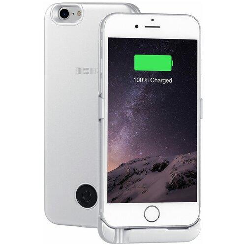 Чехол-аккумулятор INTERSTEP Metal battery case для iPhone 6/7 silver
