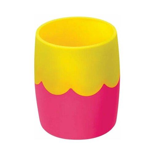 Купить Подставка-органайзер СТАММ (стакан для ручек), розово-желтая, непрозрачная, СН502, Канцелярские наборы