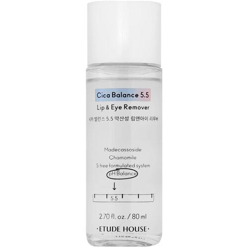Двухфазное средство для снятия макияжа CICA BALANCE 5.5 LIP&EYE REMOVER, 80 мл