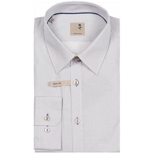 Рубашка Seidensticker размер 39 серый/белый