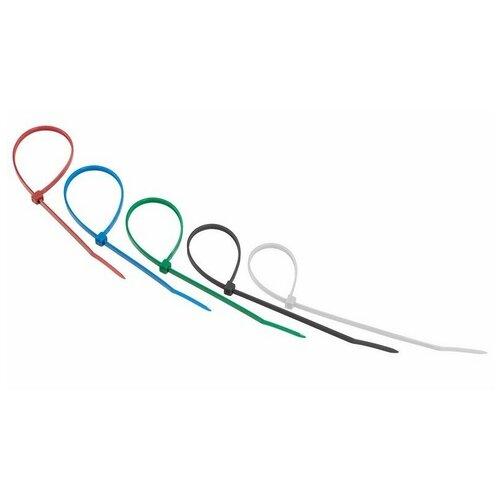 Хомут-стяжка нейлоновая REXANT 200x3,6 мм, цветная, упаковка 25 шт., цена за 1 упак