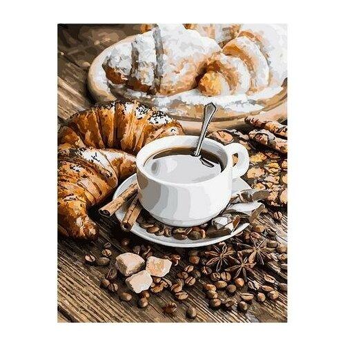 Картина по номерам GX 31750 Завтрак Парижа/ Кофе и круассаны 40*50 картина по номерам gx 9871 уточки и лодочка 40 50