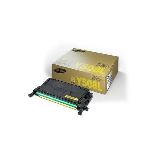 Фото - Тонер-картридж Samsung CLT-Y508L SU535A желтый оригинальный картридж samsung su535a clt y508l для samsung clp 620 670 clx 6220 желтый 4000стр
