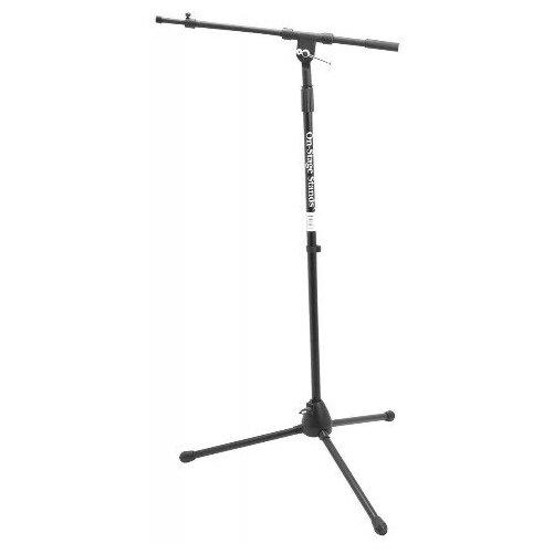 Фото - Микрофонная стойка напольная OnStage MS7701TB микрофонная стойка напольная onstage ms8310