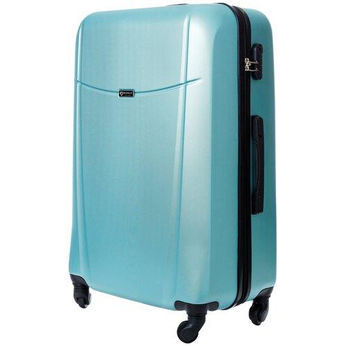 чемодан bonle премиум abs пластик салатовый размер s 55 см 37 л Чемодан Bonle, премиум ABS-пластик, Нефритовый, размер L, 75,5 см, 91 л