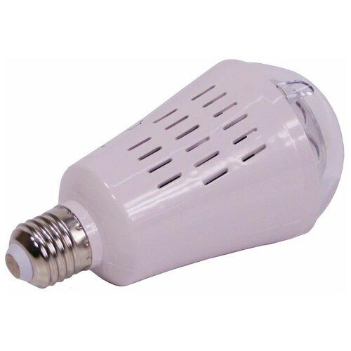 Светодинамическая лампа танец снежинок, 4 холодных белых LED-огня, проекция 36 м*2, 7.5x14.5 см, цоколь Е27, для дома, K