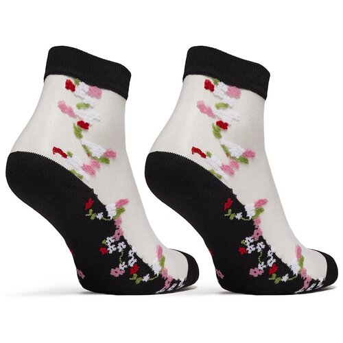 Носки с вышивкой Le Cabaret (розовый; антрацитовый; белый) 36-40