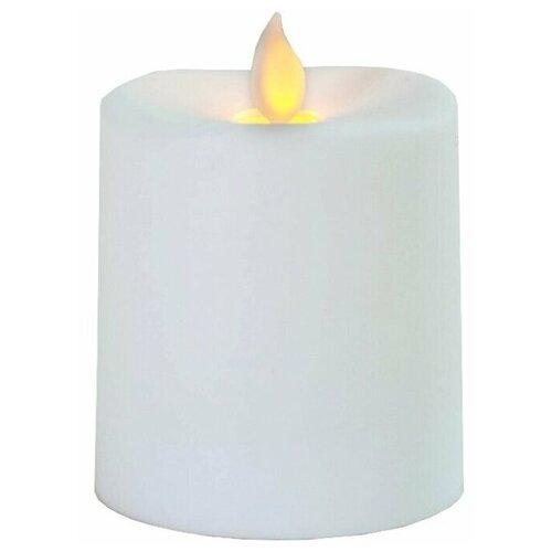 свеча светодиодная пластиковая с эффектом мерцающего пламени высота 8 5 см цвет бежевый 063 88 Свеча светодиодная пластиковая с эффектом мерцающего пламени, высота - 8,5 см, цвет - белый, 063-86
