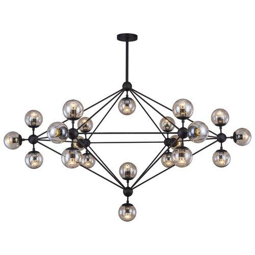 Люстра потолочная Lussole HARTWELL GRLSP-8166 Модерн янтарный E27 210Вт люстра lussole loft hartwell lsp 8166 e27 840 вт
