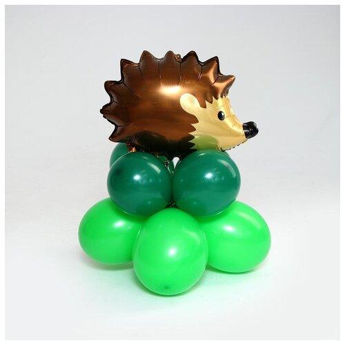 Набор воздушных шаров Страна Карнавалия Ёж (9 шт.) зеленый/коричневый страна карнавалия набор бумажной посуды с днем рождения маленький джентельмен 3877347 19 шт голубой