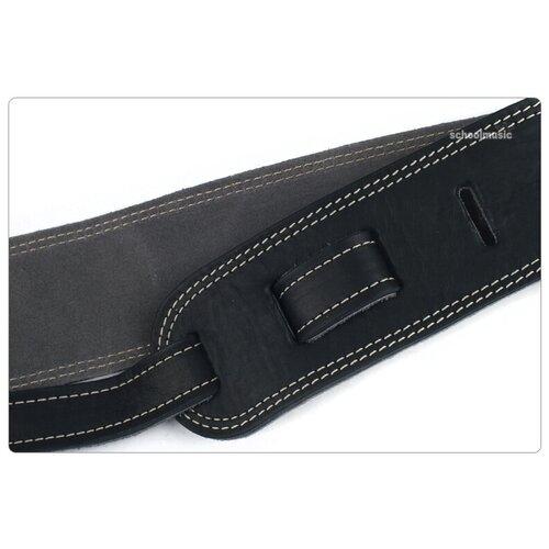 Martin 18A0013 гитарный ремень, кожа/ замша, чёрный