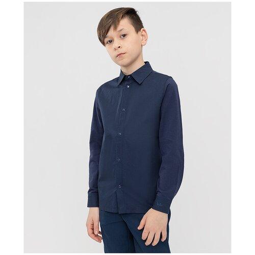 Рубашка Button Blue размер 128, синий