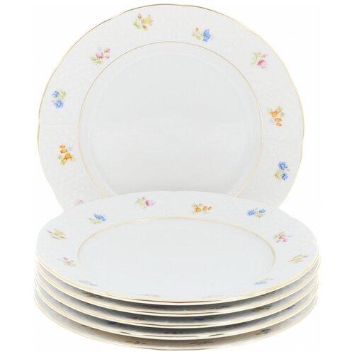 Набор десертных тарелок Natalie (декор Мелкие цветы, отводка золото) 6 тарелок, 19 см недорого