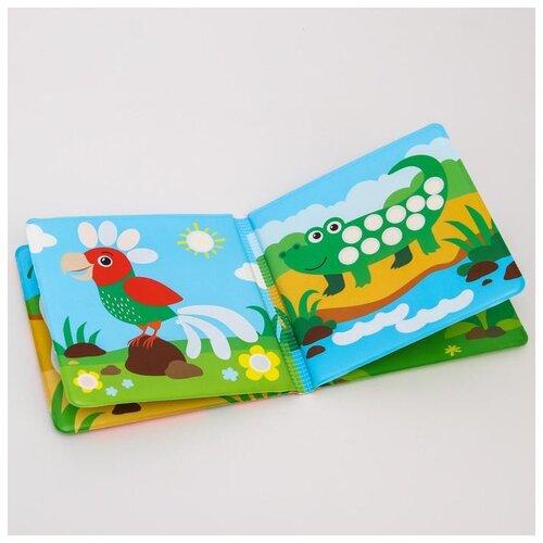 Купить Книжка для игры в ванной Крошка Я Рисуем пальчиками: Зоопарк , водная раскраска (5084671), Игрушки для ванной