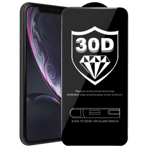 Защитное стекло для Apple iPhone 11;iPhone XR / айфон 11;айфон 10R;айфон хр / Закаленное стекло, 30D, полный клей, черная рамка