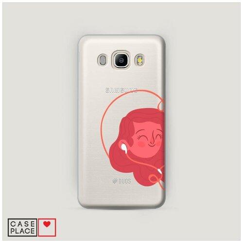 Чехол Пластиковый Samsung Galaxy J7 2016 Музыка для влюбленных 1