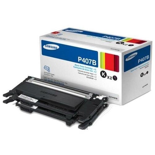 Фото - HP CLT-P407B (SU385A) Тонер-картридж оригинальный черный двойная упаковка (2-Pack) Black 3K для CLP-320, CLP-320N, CLP-325, CLP-325W, CLX-3185, CLX-3185FN, CLX-3185N, CLX-3185W картридж hp clx k8385a для samsung clx 8385n clx 8385nd 20000 черный