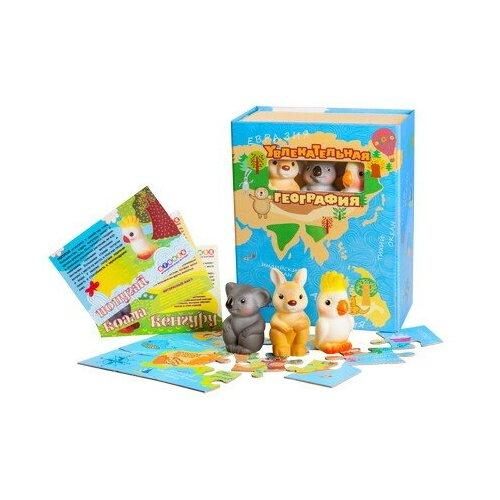Купить Игровой набор Огонек Увлекательная география Австралия, кенгуру, коала, попугай С-1265, ОГОНЁК, Настольные игры
