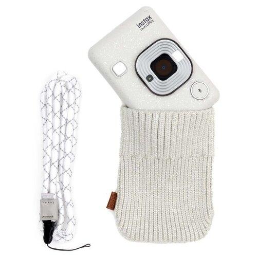 Фото - Фотоаппарат моментальной печати Fujifilm Instax Mini LiPlay Elegant Stone White Bundle фотоаппарат моментальной печати fujifilm instax mini liplay elegant stone white bundle