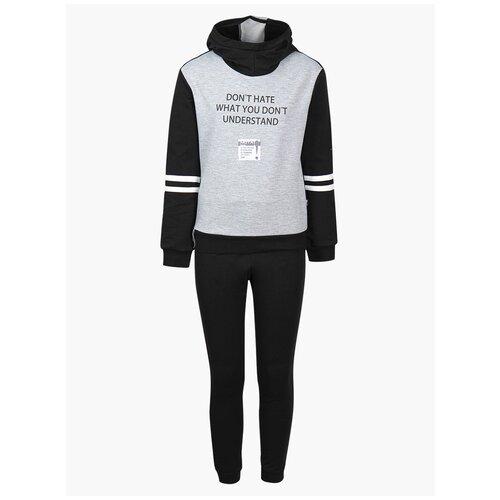 Спортивный костюм Nota Bene размер 128, черный/серый