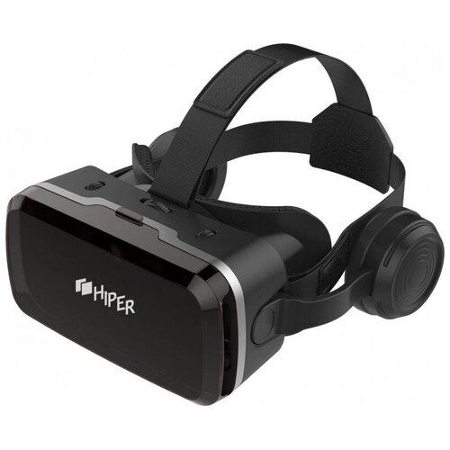 Очки виртуальной реальности для смартфона до 6.2, джойст+науш, Hiper VR MAX