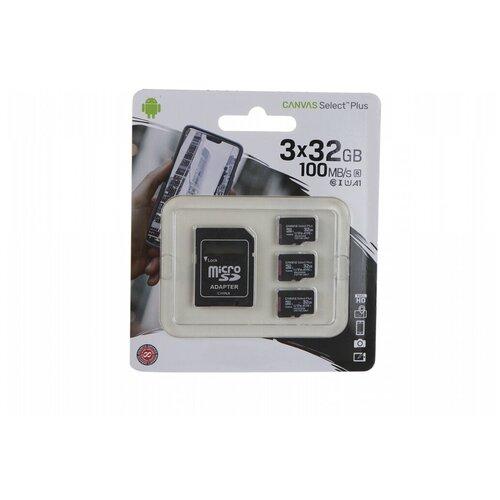 Фото - Карта памяти 32Gb - Kingston Micro Secure Digital HC Class10 UHS-I Canvas Select SDCS2/32GB-3P1A с переходником под SD карта памяти micro securedigital 32gb kingston canvas select plus sdhc class 10 uhs i sdcs2 32gb sd адаптер
