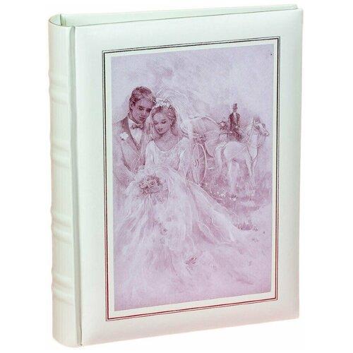Фотоальбом свадебный «Холст» на 200 фото 10х15 см, кармашки