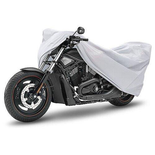 """Чехол-тент для мотоциклов и скутеров AutoStandart """"Classic"""", размер XL (246х104х127см), цвет: серебристый"""
