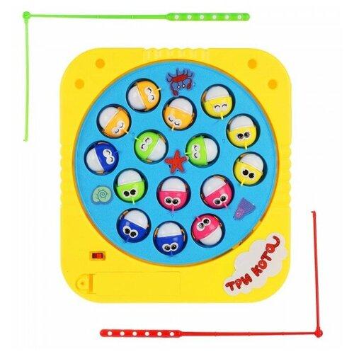 Играем вместе Игра Три кота Рыбалка игрушки для ванны играем вместе игра рыбалка три кота k095 h19006 r