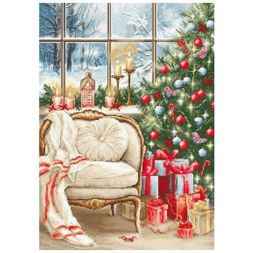 Фото - B599 Набор для вышивания 'Рождественский интерьер' 28*40см, Luca-S bu4022 набор для вышивания хижина в лесу 43 5 40см luca s